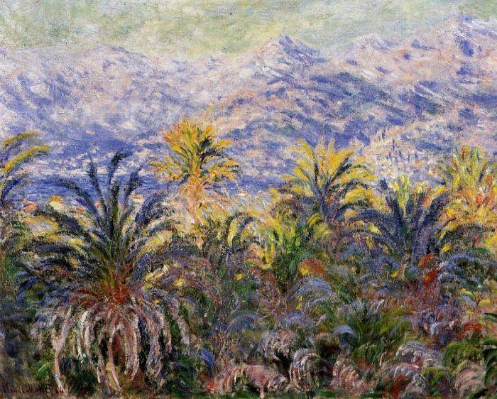 Palm Trees at Bordighera // Claude Oscar Monet // 1884