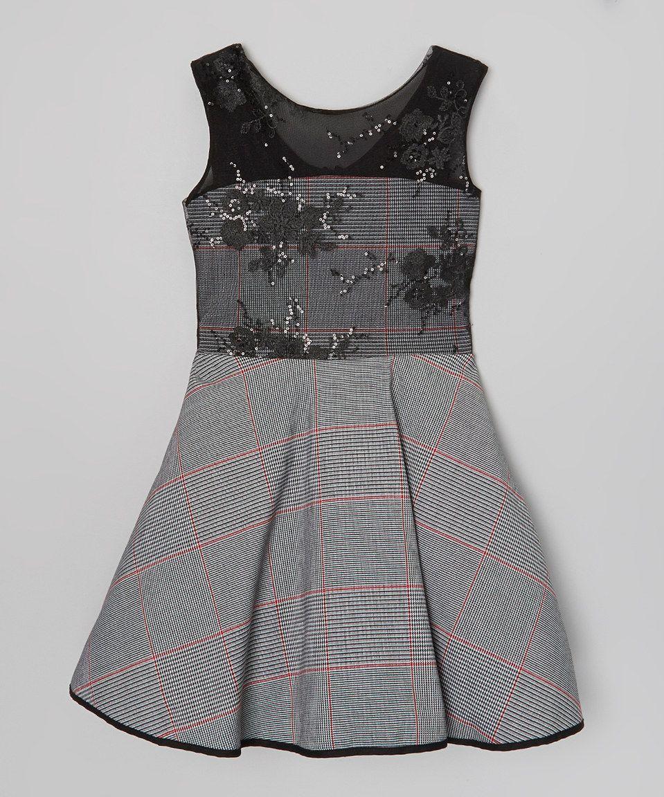 Girls Black Tank Dress
