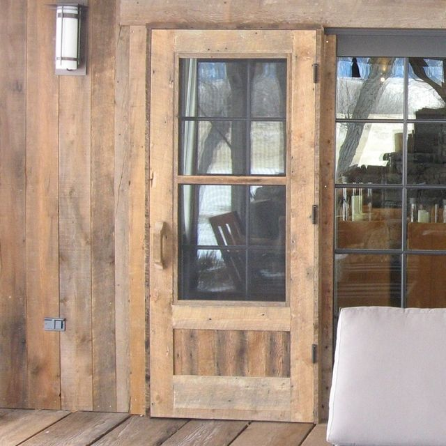 Custom Made Reclaimed Wood Screen Doors