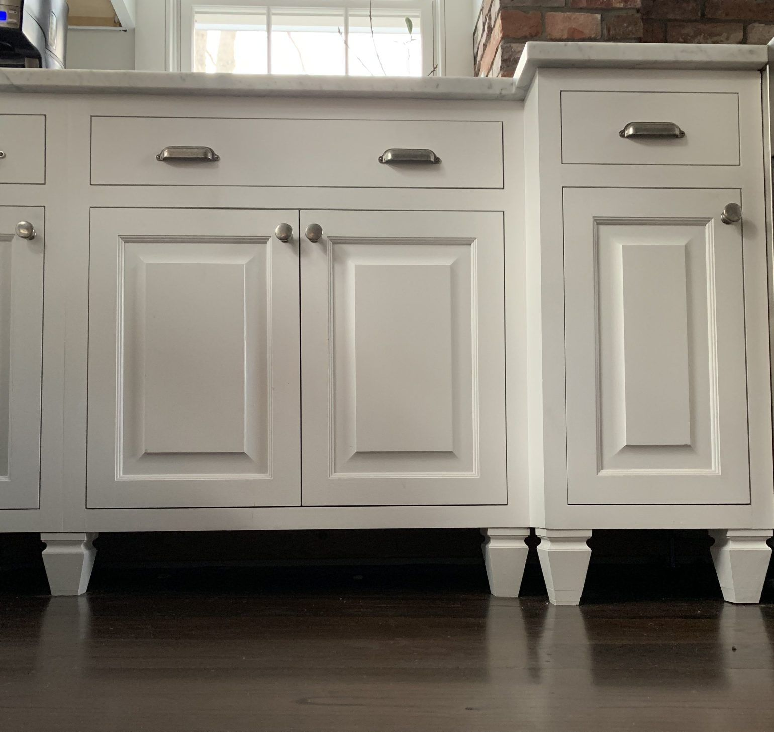 How And Why There Are No Toekicks Under My Kitchen Cabinets Farmstand Culture In 2020 Kitchen Cabinets That Look Like Furniture Kitchen Cabinets With Feet Free Standing Kitchen Cabinets