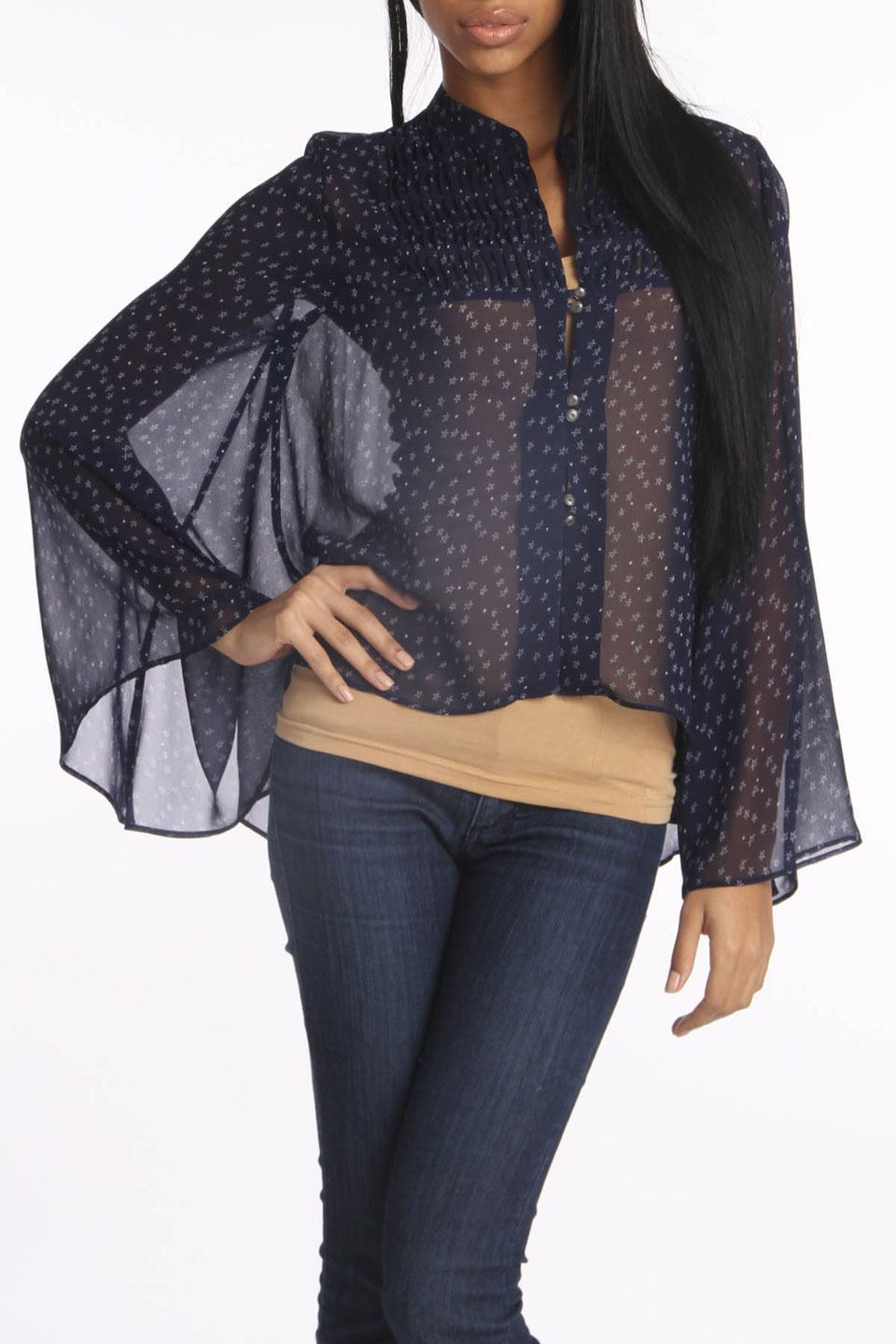 dv by dolce vita Cheche Top In Navy Star