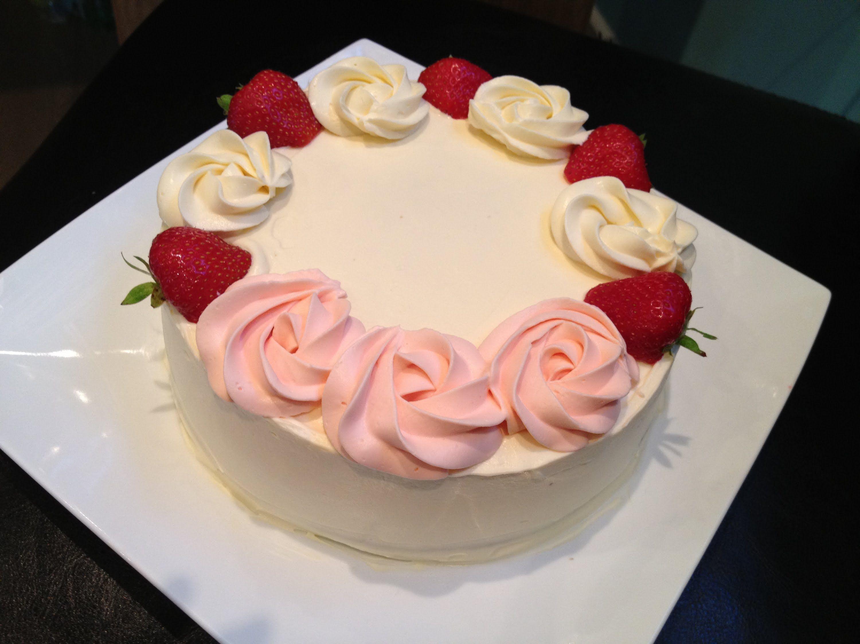 Fresh Cream Cake PurpleWhite Birthday Pinterest Fresh cream
