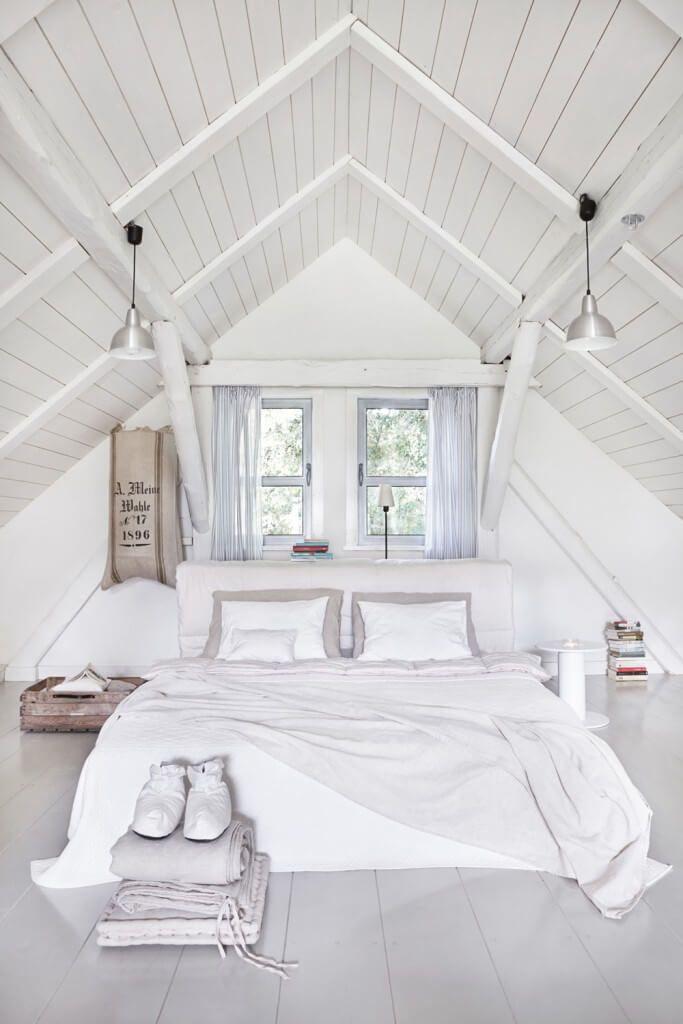 15 Attic Schlafzimmer, die Sie so schnell wie möglich nach oben reinigen wollen - Neueste Dekor #vaultedceilingdecor