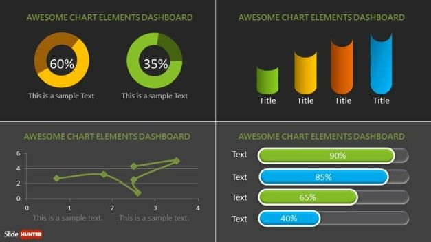 Dashboard PowerPoint Template with custom components layout Fund - interactive powerpoint template