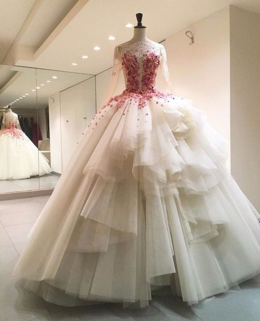 Floral wedding dressesillusion wedding dressbodice wedding dresses