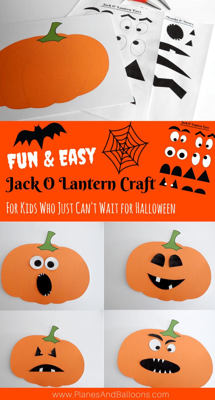 Halloween Jack O Lantern Craft For Kids to Make This Fall #pumpkincraftspreschool