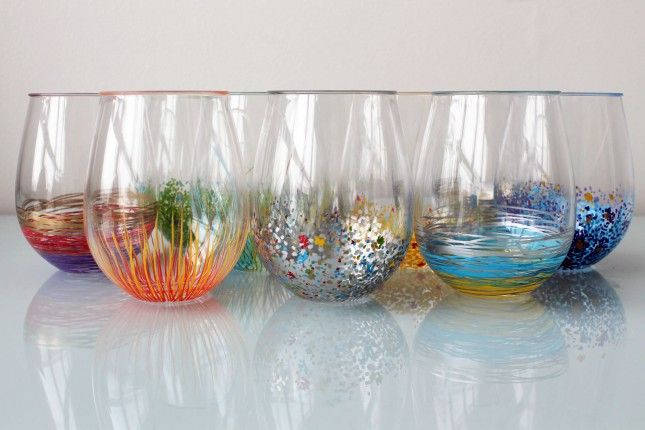 add a pop of color to your glassware