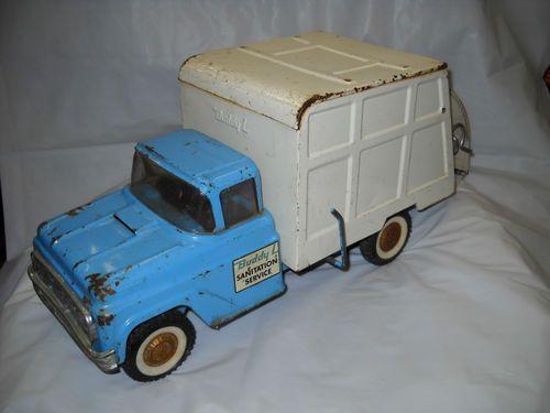 Vintage Buddy L Sanitation Service Garbage Truck 1960 S