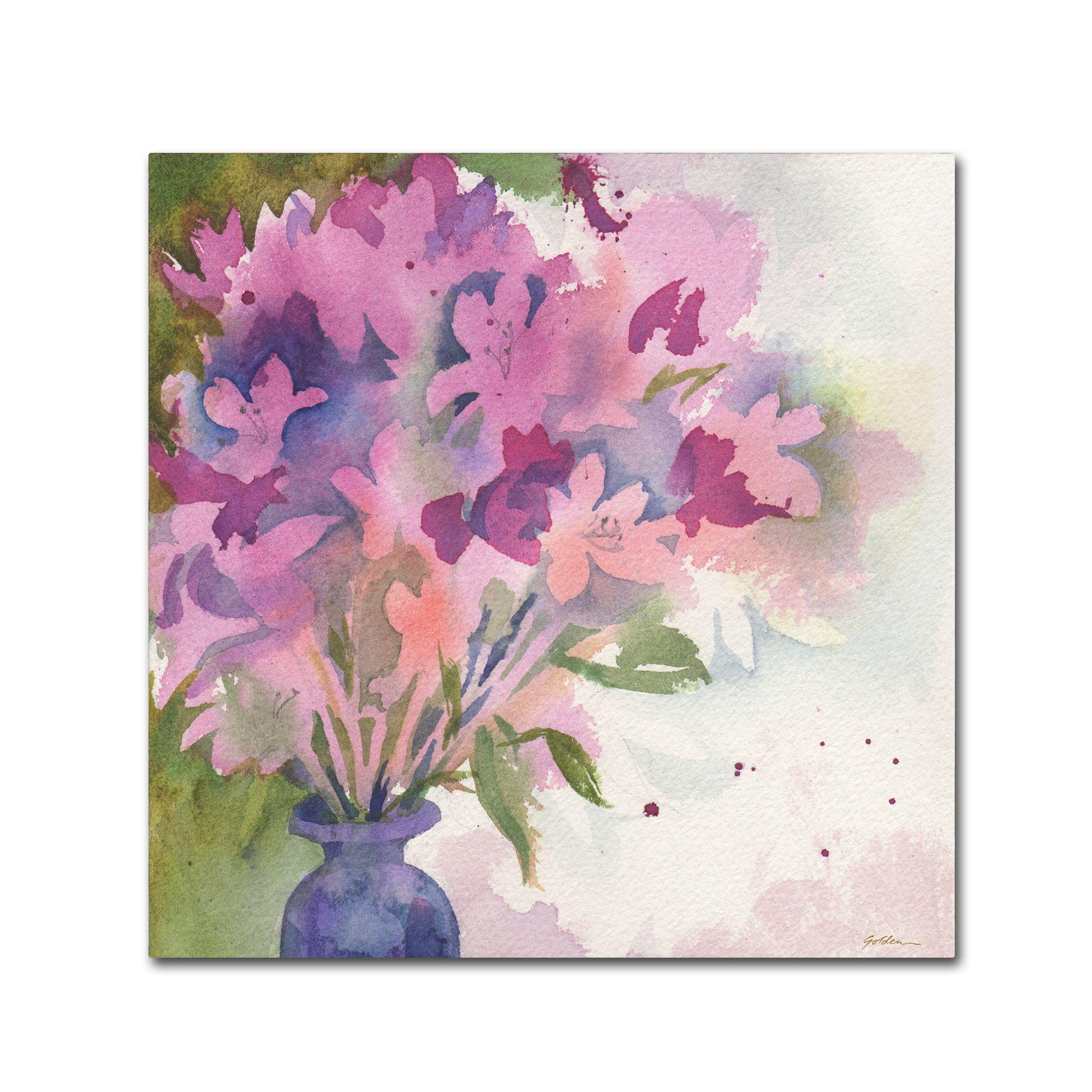 Sheila Golden 'Magenta Blossoms in Vase' Art