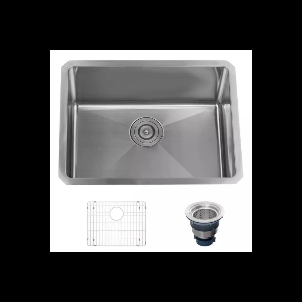 Laundry Sink Undermount Good Price 207 Miseno Mls2318sr 16 Gauge Stainless Steel 23 L X 18 Sink Stainless Steel Utility Sink Stainless Steel Kitchen Sink