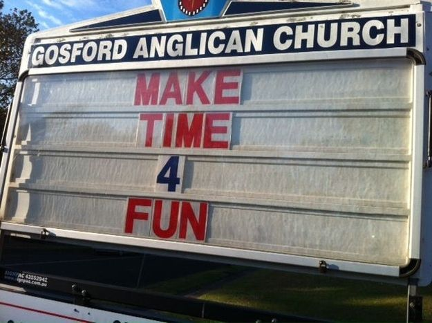 Via Facebook. With a twist.   23 Inspirational Signs From The Church Championing Gay Marriage