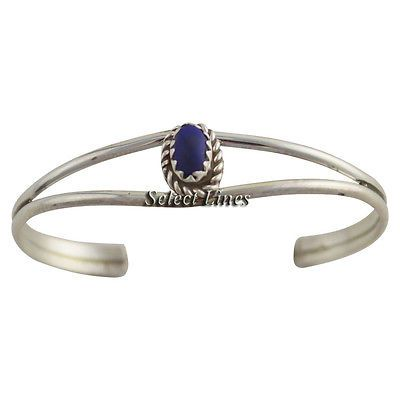 Judy Lincoln Sterling Silver Lapis Baby Bracelet Navajo Native American Jewelry $18