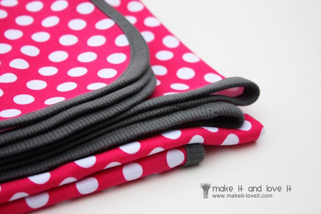 Though this is a baby blanket tutorial, a little larger would make a perfect serenade blanket for the sewing-inclined big sis!