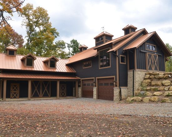 Brilliant Minimalist Rustic Exterior Design Rustic Landscape Barn Design Exterior Stone Ga Copper Roof House Exterior Paint Colors For House Metal Roof Houses
