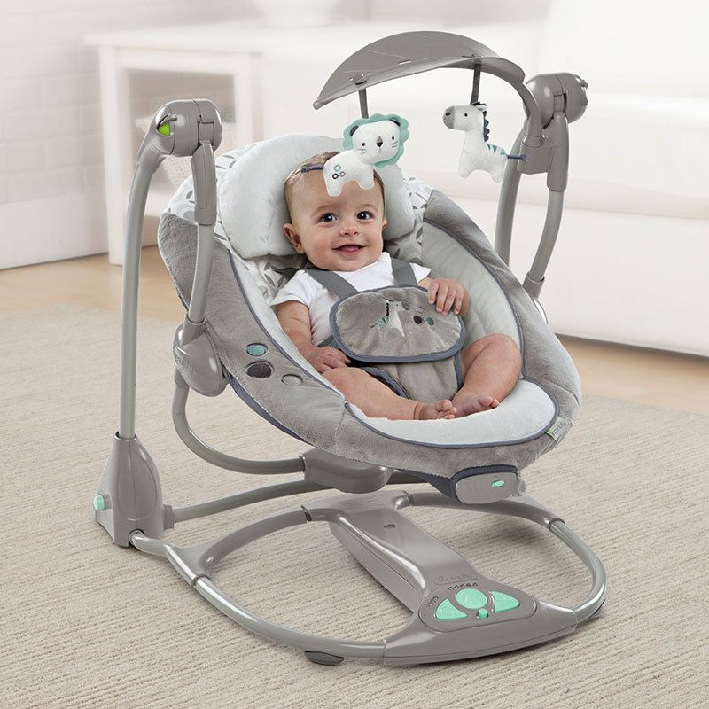 Portable Swing Compact Swing Electric Portable Baby Swing Cradle Swing with Portable Bouncer Stationary Baby Swings