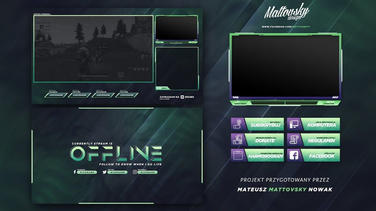 Twitch Overlay Templates is a source for free & premium
