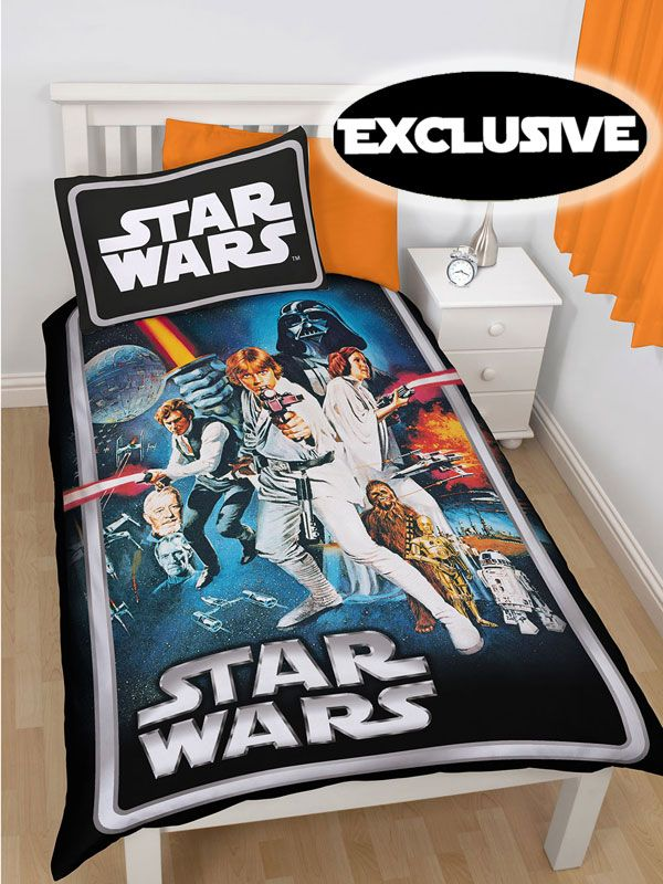 star wars sengetøj Star Wars Poster Duvet Cover   Cool retro design | Movie Duvets  star wars sengetøj