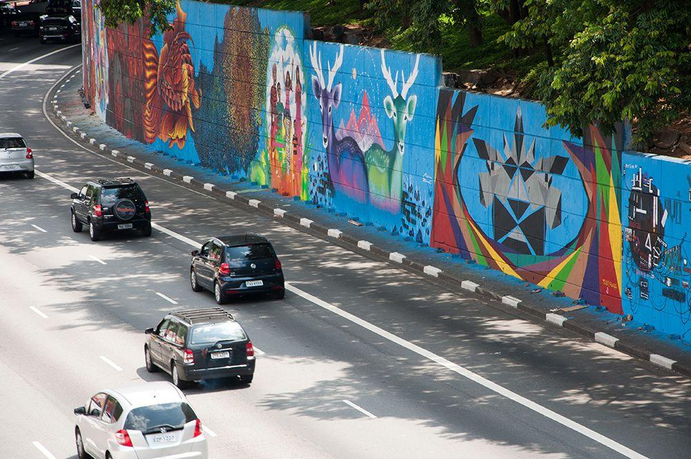 El mural más grande de América Latina está en Brasil
