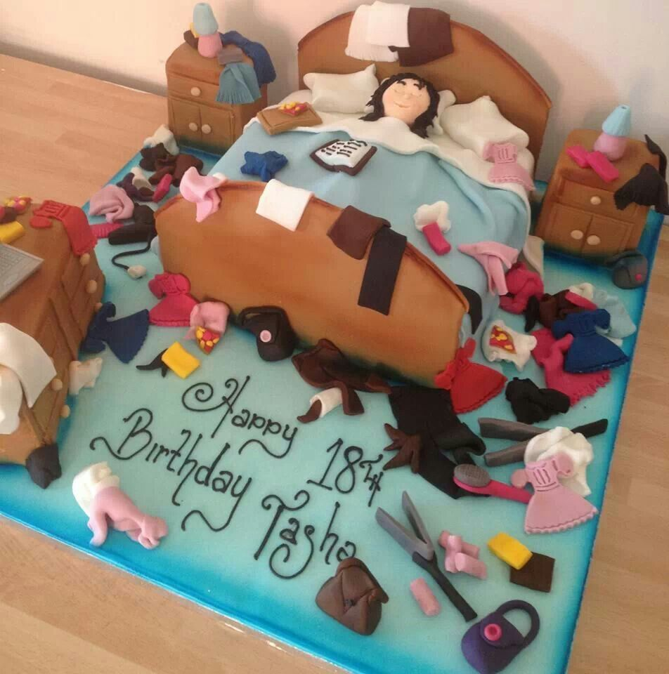 Messy Teenage Bedrooms Messy Bedroom Cake For A Teen Themed Cakes Pinterest Cake