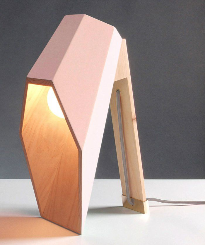 geometrische tischlampen aus holz vom designer alessandro zambelli leuchten pinterest. Black Bedroom Furniture Sets. Home Design Ideas