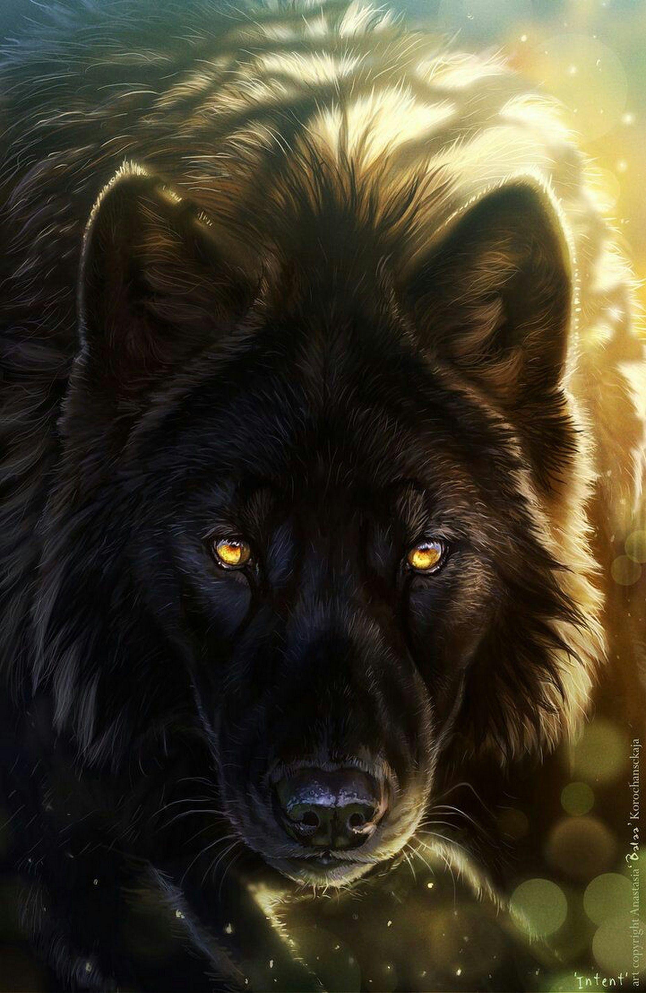 Картинки волки красивые фэнтези, свою открытку