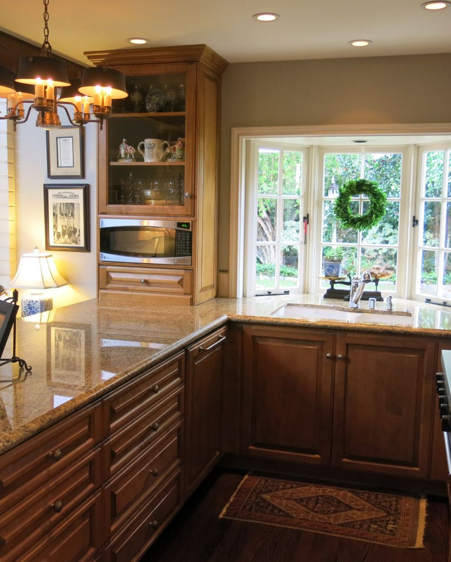 Galley Kitchen Layout With Peninsula galley kitchen layout – love the window bump-out makes the space