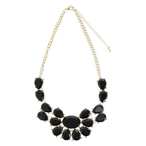 Women's Short Statement Necklace, Black