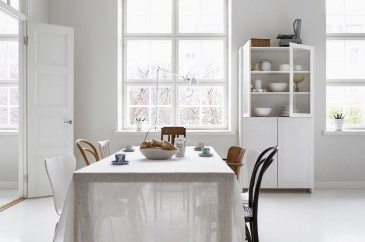 Ordinaire White Sheer Tablecloth