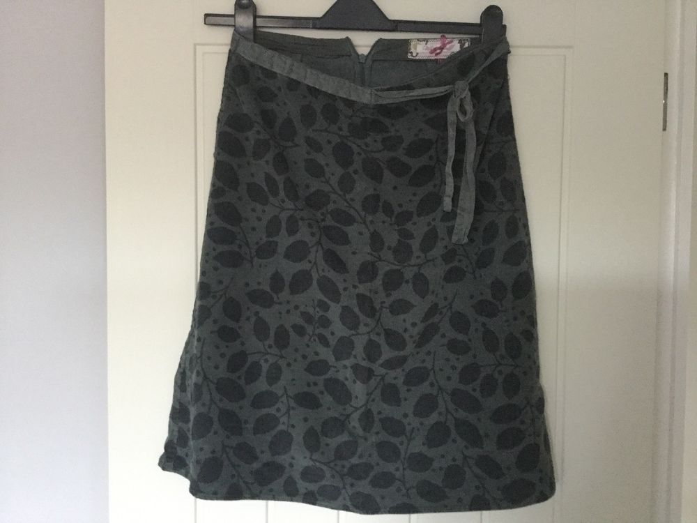ac3a762d5bb White Stuff Grey Cord Leaf Print Skirt - Size 10  fashion  clothing  shoes   accessories  womensclothing  skirts (ebay link)