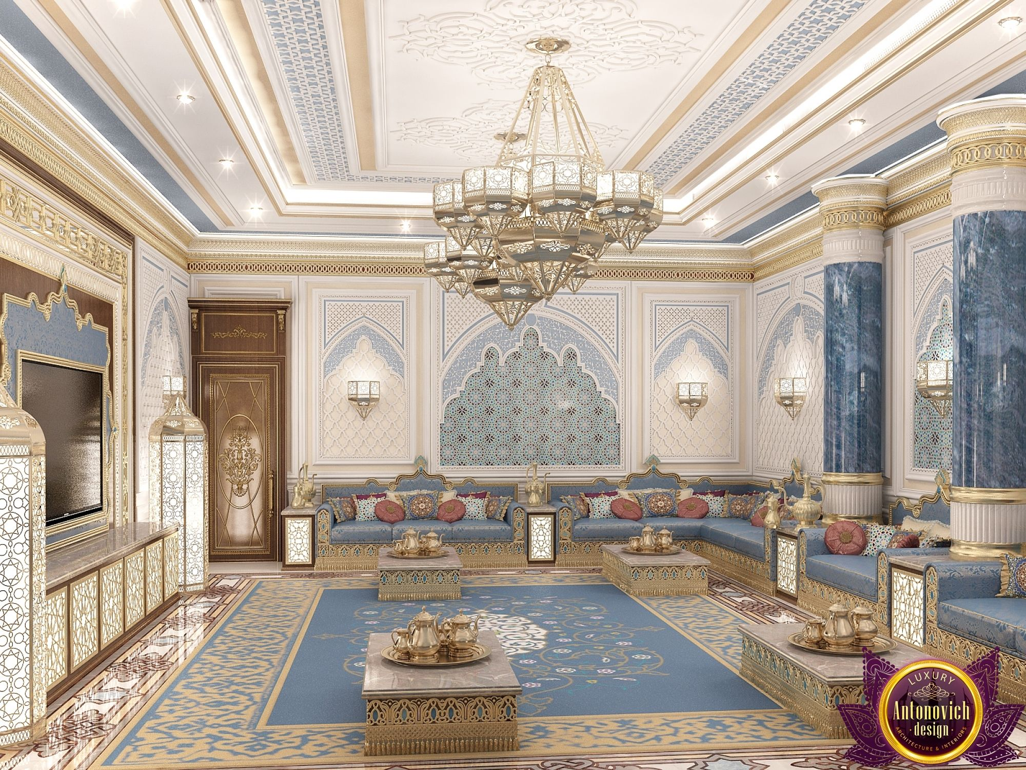 3d Wallpaper Designs For Hall Majlis Interior Design In Dubai Luxury Arabic Majlis