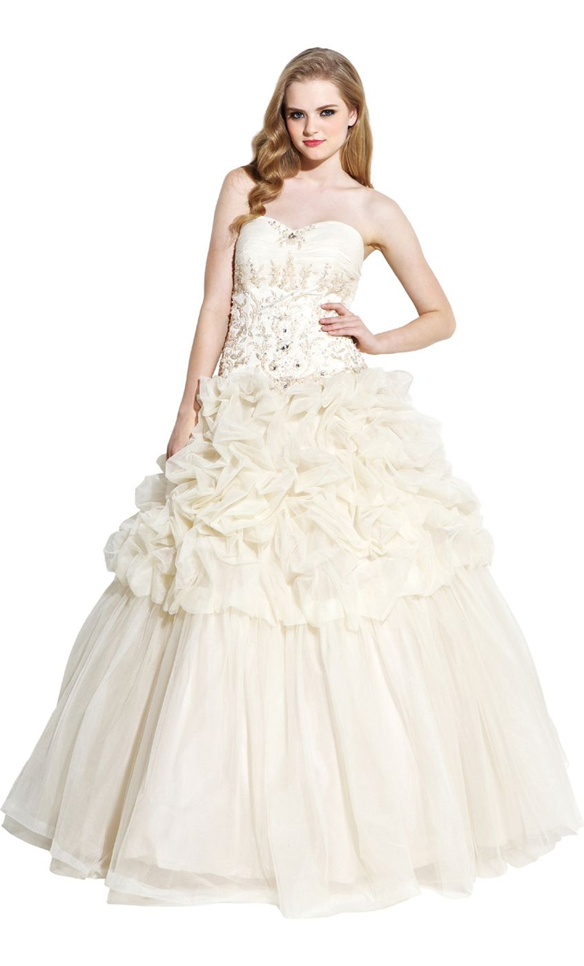 Tulle Gathered Wedding Dress Bridal Ball Gown $169.99 | Vow Renewal ...
