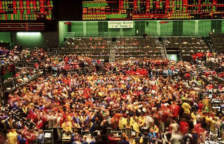 Cbot Pit Chicago Finance Wall Street