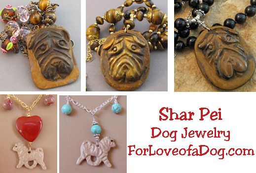 Shar Pei and Shih Tzu Dog Jewelry Gifts at ForLoveofaDog.com | Talking Dogs at For Love of a Dog | Bloglovin'