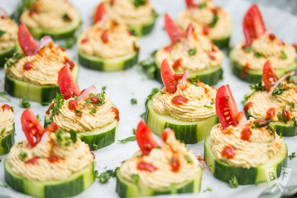 Falafel Spiced Cucumber Bites Recipe Appetizer Recipes