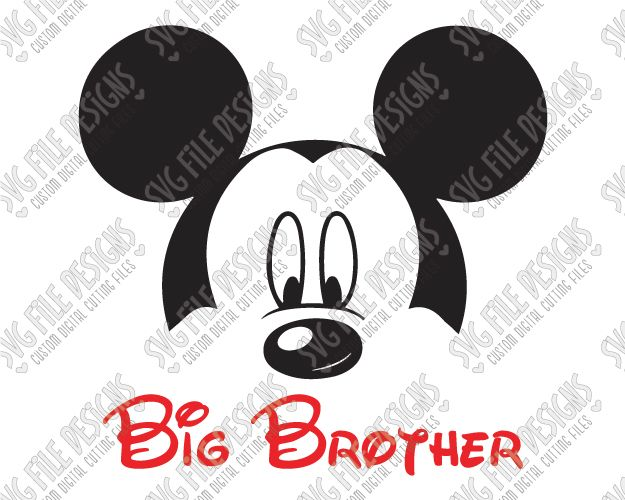 Mickey Mouse Big Brother SVG Cut File Set for Disney Family