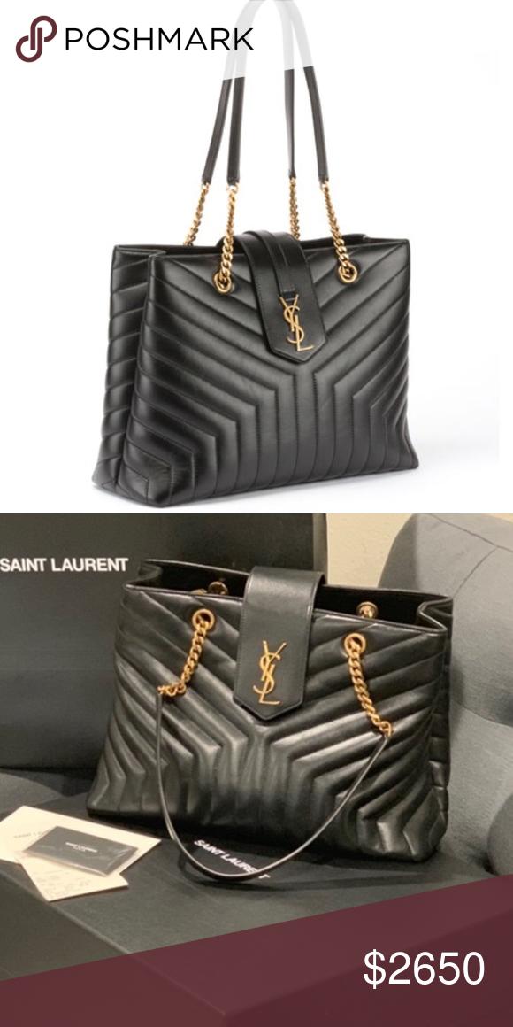 c5ff7a0b580 SHARING ❗️Saint Laurent Loulou Large Quilted bag Saint Laurent Loulou  Monogram YSL Large Quilted Shoulder Tote Bag - Lt. Bronze Hardware NOT FOR  SALE YET ...