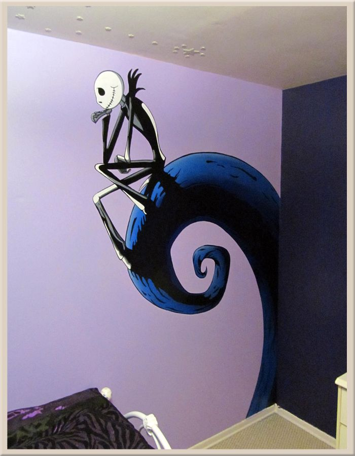 Jack Skellington Wall Christmas Kids Room Nightmare Before