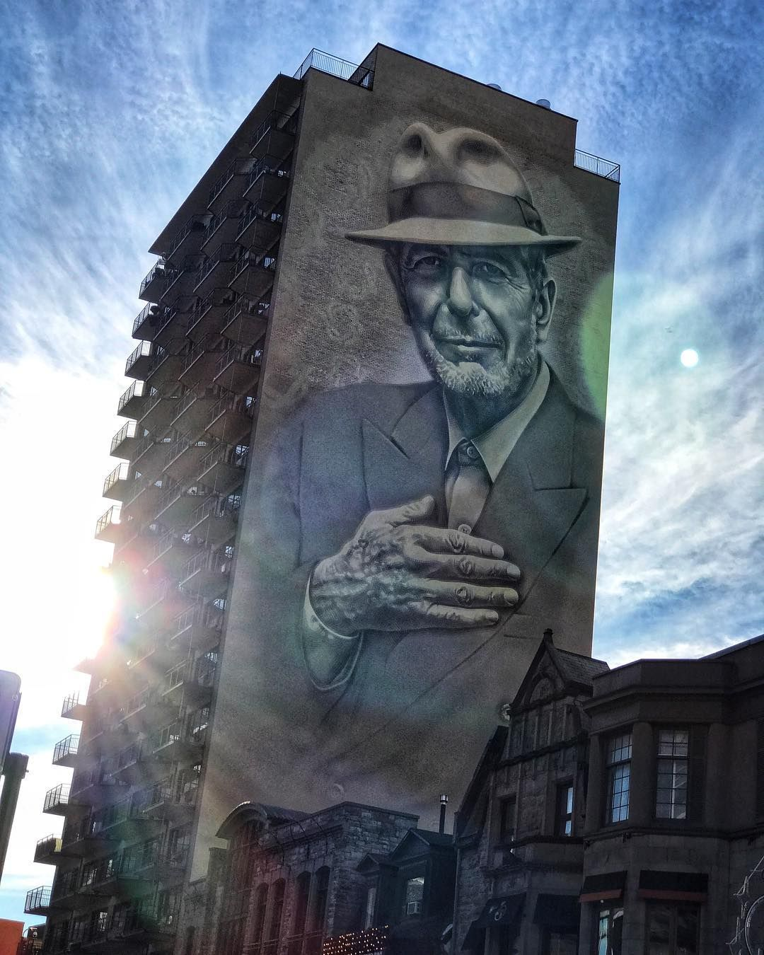 Leonard Cohen Mural Inaugurated In Downtown Montreal Montreal