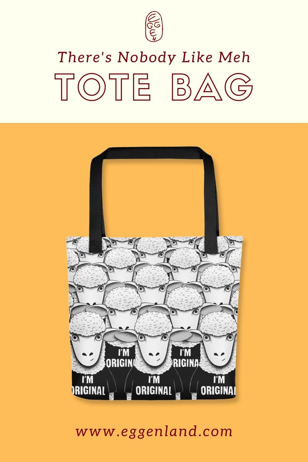 Sheep Original | Illustrated Tote Bags for Sale | #sheep #fashion #funnyanimals #coolanimals #bags #totebags #coolfashion #outfits summer outfits, outfit ideas, fashion accessories, women's fashion, creative bags, funny bags, funny tote bags