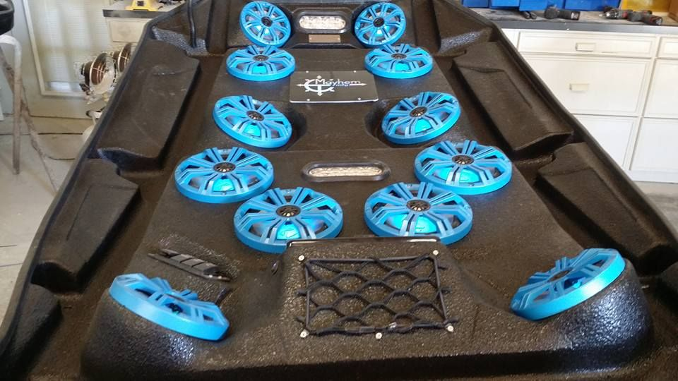Mayhem Manufacturing Rzr 1000 Audio Roof With 4 6 5 And 8 8 Kicker Marine Speakers Find Us On Facebook And Get Loud G With Images Marine Radios Marine Speakers Marine