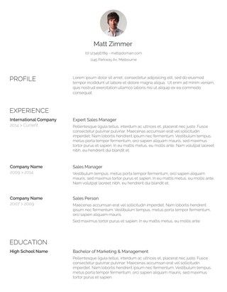 105 Free Resume Templates for Word Downloadable Pinterest - mock resume templates