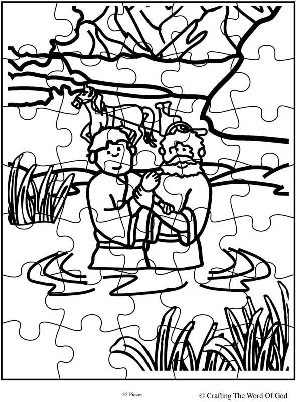 Philip And The Ethiopian Puzzle | Bible coloring pages ...