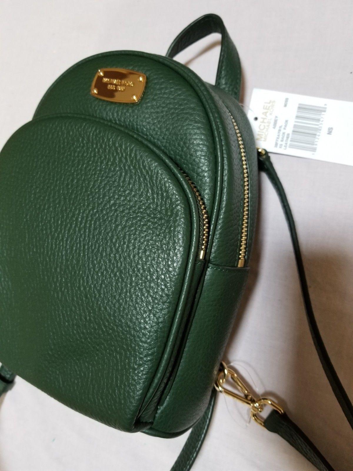 23e12a050236 NWT Michael Kors XS Abbey Mini Backpack MK Signature Monogram MOSS Greeen  $248