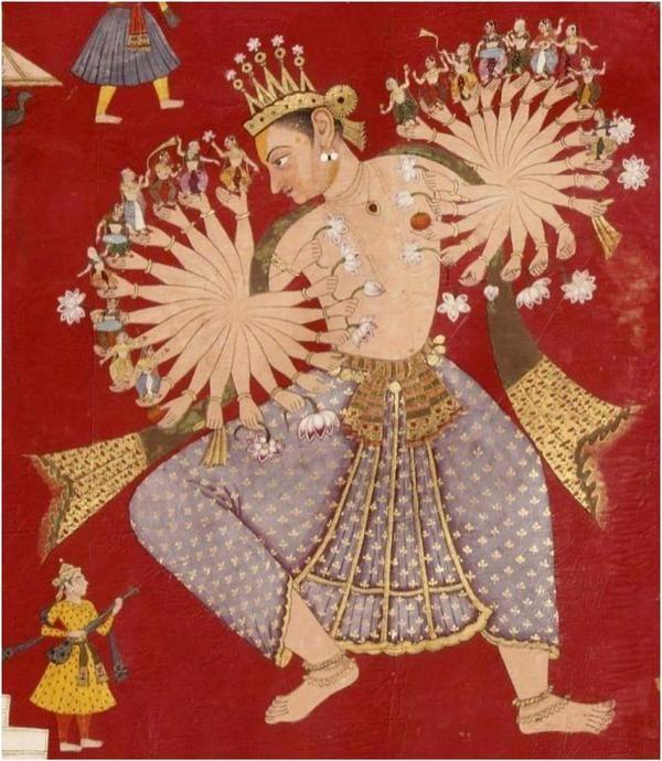 Jain Scroll, 17th century. Lord Indra
