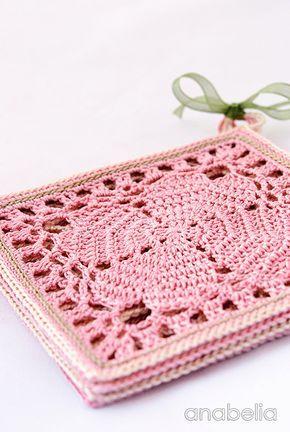 Japanese crochet square coasters, free pattern ༺✿Teresa Restegui ...