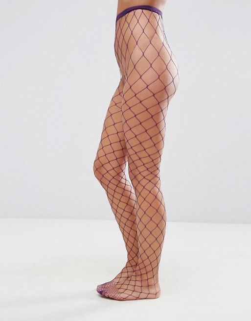 a9b1c71d4 Oversized Fishnet Tights in Purple in 2019