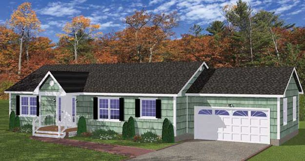 This Lovely Ranch Home Has A Cozy Covered Entry And Simple Yet Elegant Design House Plan 751012 Different House Styles House Plans Floor Plans