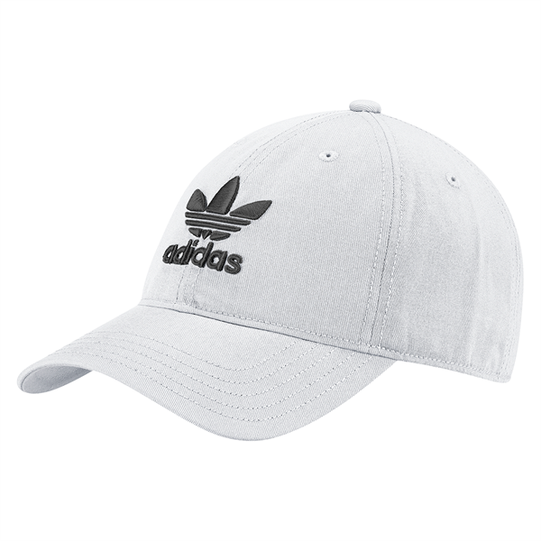 8f5f292355153 adidas Men s Trefoil Curved Bill Khaki Strapback Hat