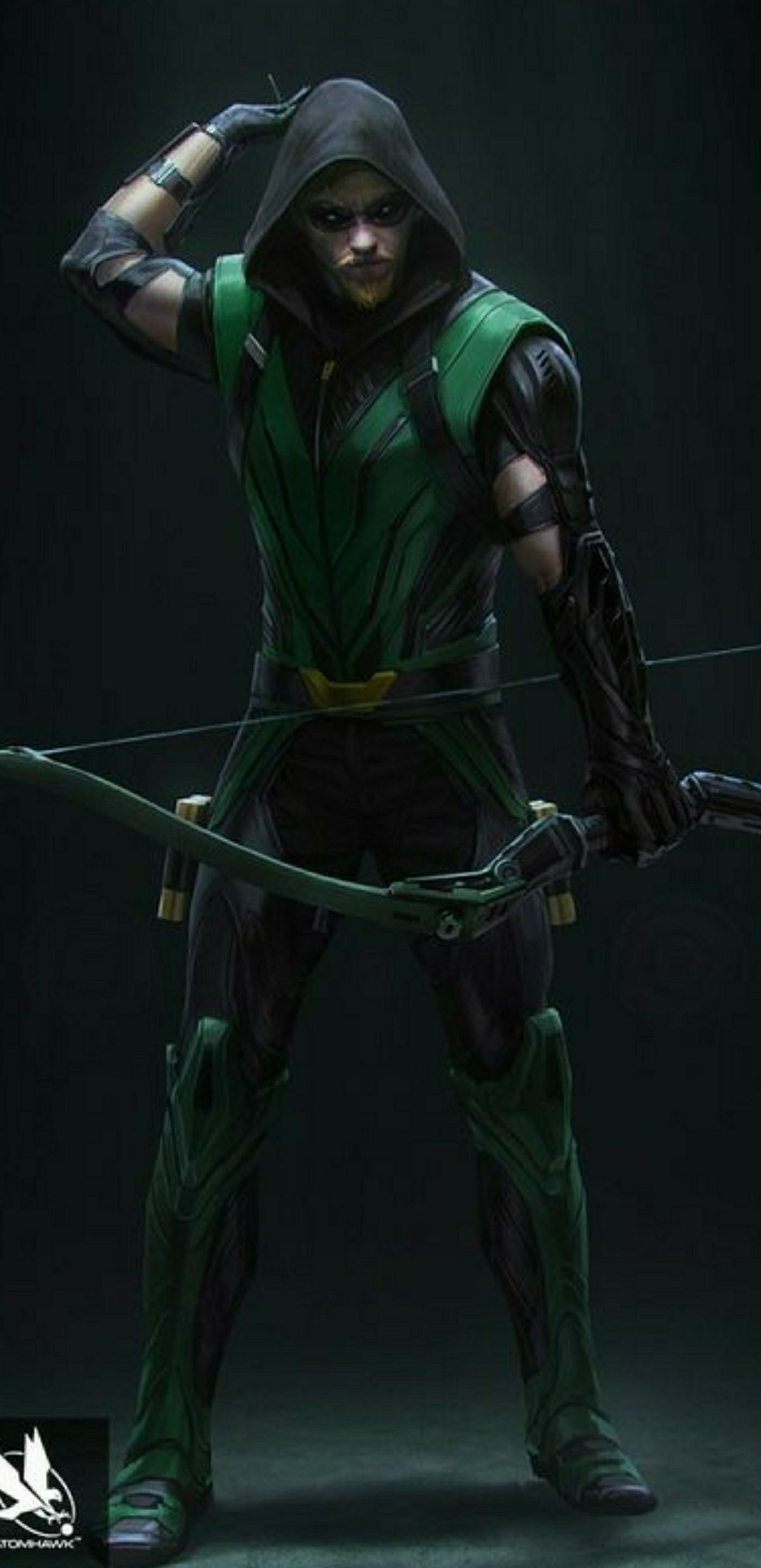 Green Arrow B&W Concept - Characters & Art - Injustice ... |Injustice Black Canary Drawing
