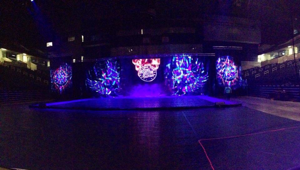 We love our GLCC stage!! Our love, Cheer, Aquarium